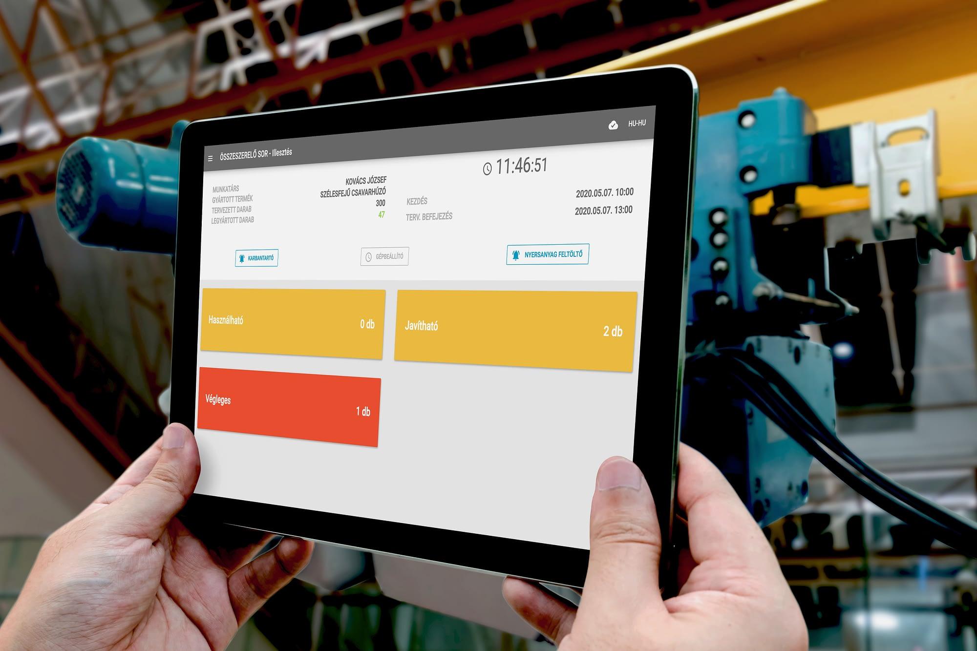 Ipar 4.0 Zero Point Hibabejelentő és kommunikációs modul